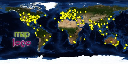Global Map of Visitors to Queensland Begonia Society from 25 August 2012 to End of 2012